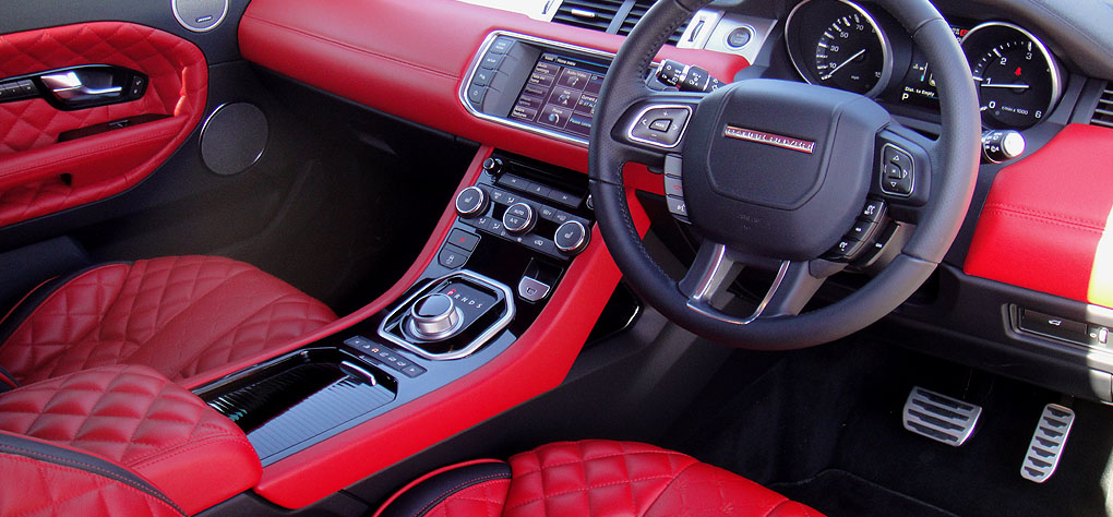 Range Rover Evoque White With Red Interior